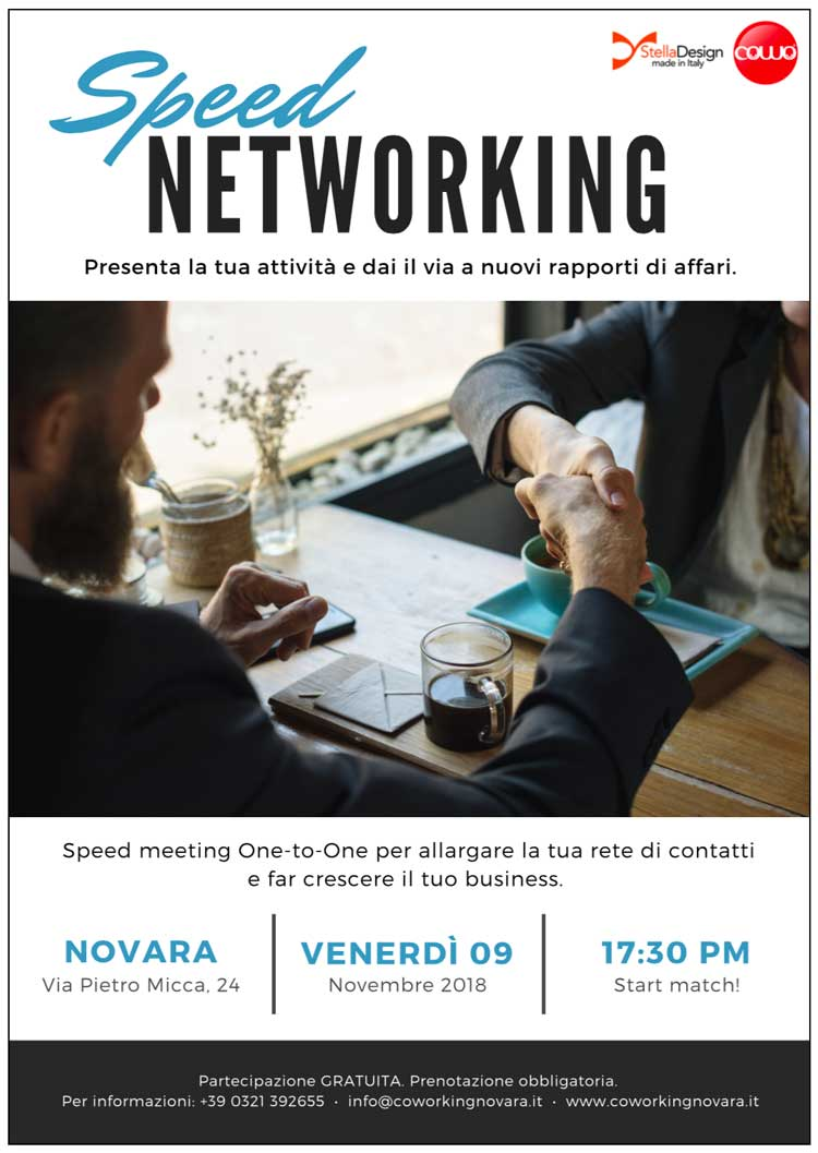 Speed Networking a Novara